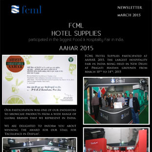 FCML Hotel Supplies participated in the biggest Food & Hospitality Fair in India. AAHAR 2015
